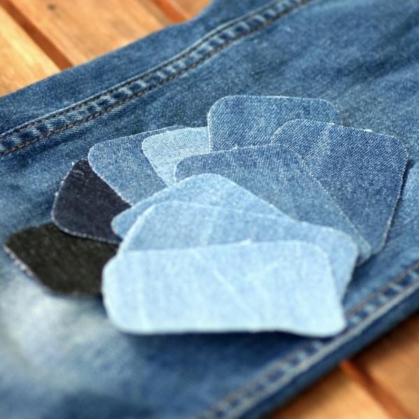 Jeansflicken, 10Stck., ca.7,8x4,9cm